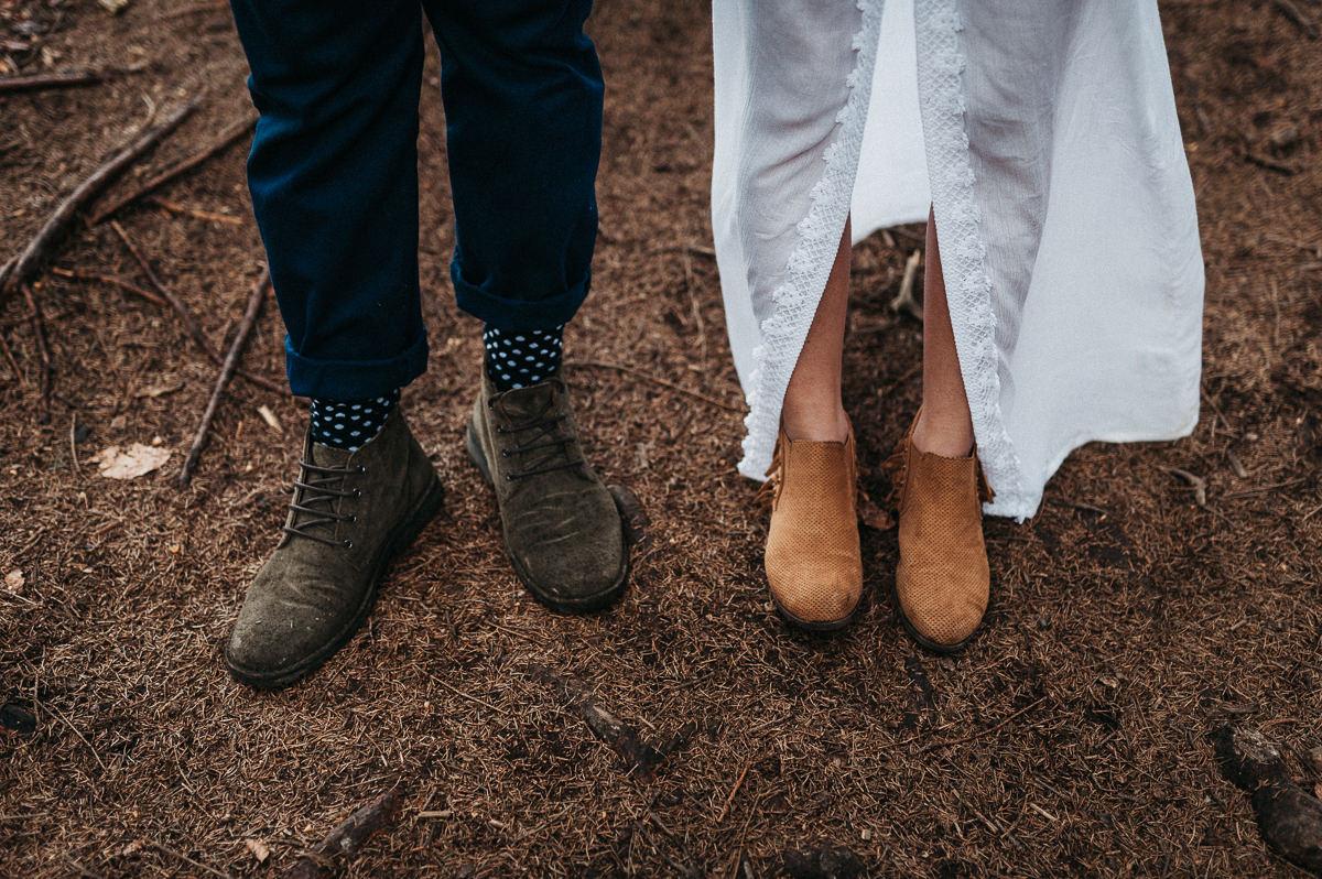 Buty przyszlej panny mlodej i pana mlodego